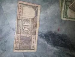 10 Rupee Indian Note