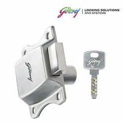 Godrej Curvo Wardrobe Drawer Lock, Silver