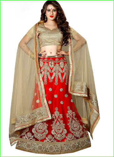 6bbd50779 Aasvaa Glorious Womens Embroidered Net Lehenga Choli - Aasvaa ...