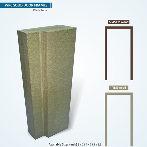 Rectangular WPC Standard Door Frames, Dimension/Size: 3 Inch X 2 ...