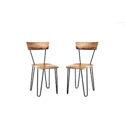 The Home Dekor Metal And Wooden Chair