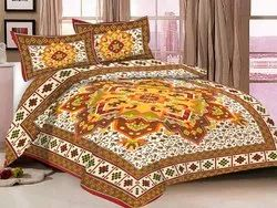 Cotton Bedsheet for Double Bed Rangoli Print
