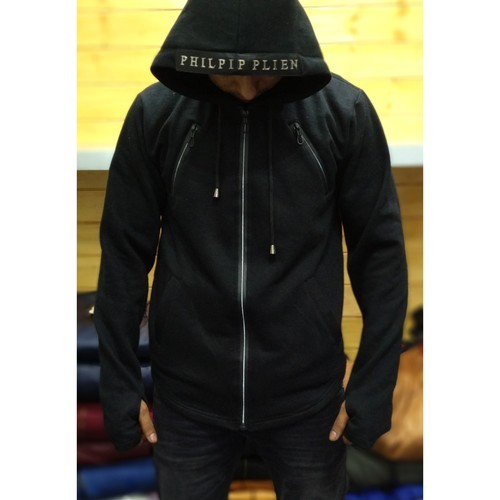 5bcdcc74 Mens Full Sleeves Black Hoodies, Size: S-L, Rs 350 /piece | ID ...