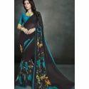 Ladies Black Printed Saree