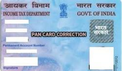 Pan Card  Correction Service