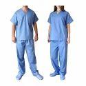 Mix Of Polyester Blue Hospital Uniform, Size: Xl