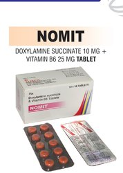 Doxylamine Succinate 10 Mg & Pyridoxine 25 Mg Tablets