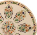 Pietra Dura Inlaid Marble Oval Shape Table Top