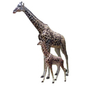 Frp Giraffe Statue For Interior And Exterior Decor