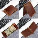 Minimallist RFID Blocking Leather Money Clip