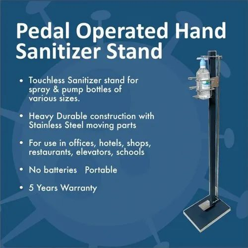 Pedal Operated Hand Sanitizer Machine