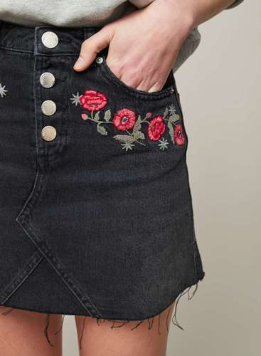 Clothing, Shoes & Accessories Women's Clothing Ladies Embroidered Skirt