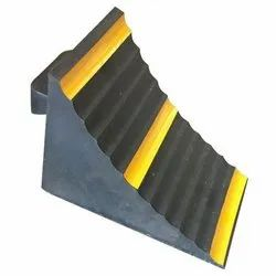 Black and Yellow Rubber Parking Blocks