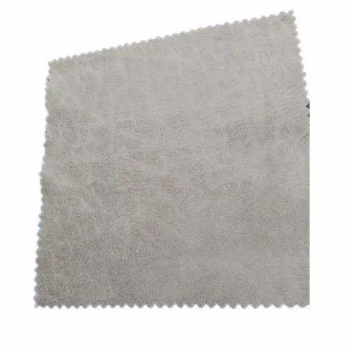 Off White Plain Polyester Sofa Fabric