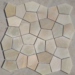Matt Sandstone Tiles, For Wall And Floor, Size: Large (12 inch x 12 inch)