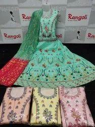 Embroidered Crop Top Designer Dress