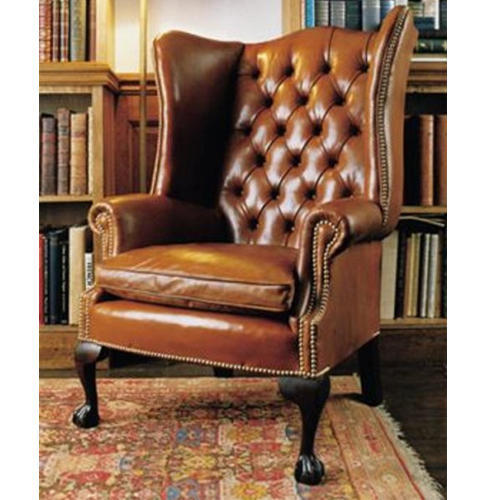 Leather Brown High Back Chair