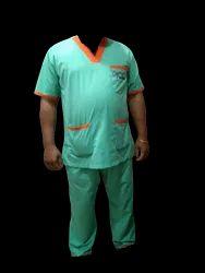 Green And Orange Hospital Staff Dress