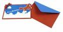 Red Sliding Airplane Handmade Birthday Party Invitations 6 Pcs