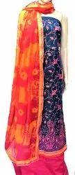 Chanderi Silk Riaa Designer Embroidery Salwar Kameez Suit