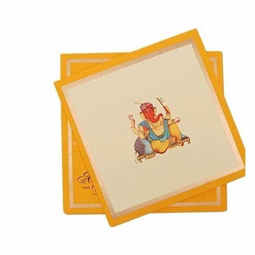 Wedding Paper Ganesh Invitation Card Lotus Id 15301394733