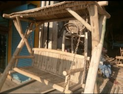 Wooden Outdoor Jhula