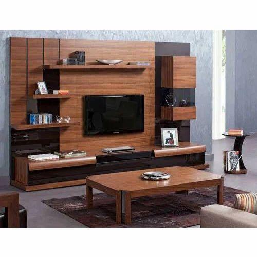 Wooden Wall Tv Unit