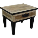 Iron Wooden Small Side Table