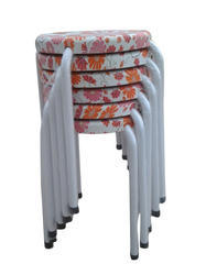 Stackable Stools - Orange Flowers  (10 Pcs.)