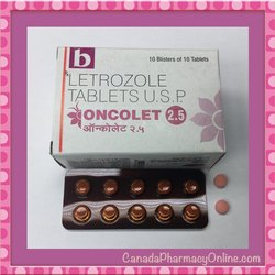 ONCOLET 2.5MG TAB Letrozole