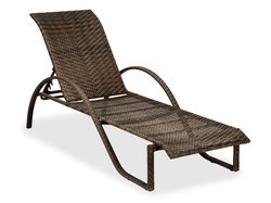 Poolside Wicker Lounger