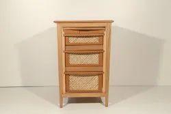 Wicker Basket Cabinet