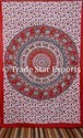 100% Cotton Tree Of Life Wall Hanging Tapestry Hand Screen Printed Tapestry
