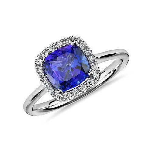 bridal gold jewelry white set diamond pin ring tanzanite and engagement in custom rings