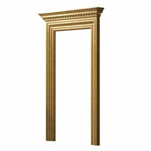 Rectangular African White Teak Wood Door Frame Dimensionsize 43