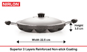 Nirlon Appam Patra 12 cavity with Stainless Steel Lid