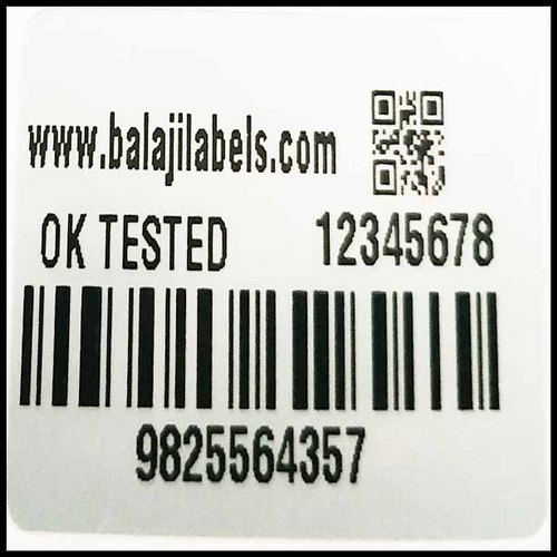 White Self Adhesive Non Tearable Labels