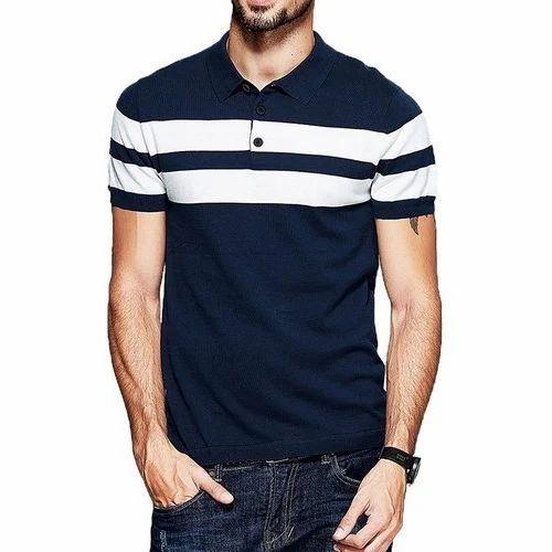 f8b8670bb6e2 Men Cotton Collar T Shirt, Size: S To XXL, Rs 250 /piece | ID ...