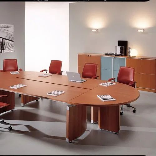 Round Conference Table Wooden, Round Meeting Room Tables