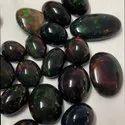 Black Ethiopian Opal Stone Cabochon