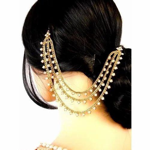Three Row Jura Chain Girls Hair Accessories Hair Decorations À¤¬ À¤² À¤• À¤¸ À¤® À¤¨ Harish Traders Nagpur Id 20640164573