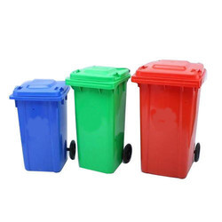 Set of 3 Bins Biomedical Wheeled Waste Bin with Foot Pedal