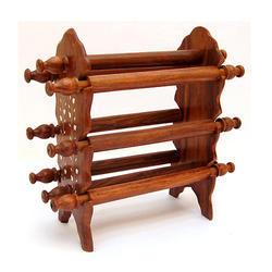 Wooden Brown Bangle Stand
