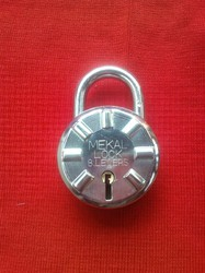 Normal Nikile Round Padlock, Packaging Size: <10 Piece, Chrome