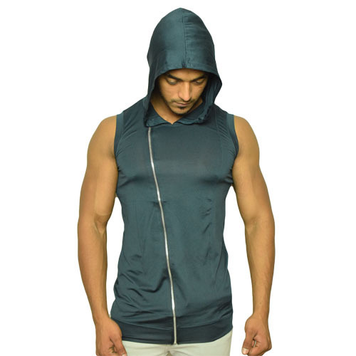 ccf20bfd51defd Imported Lycra Plain Sleeveless Hoodie