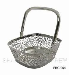 Pure Silver Fancy Flower Basket