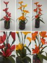 Paper Flowers, Bamboo As Vase Leafy Flowers Show Pieces Series, Don