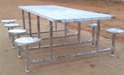 Stainless Steel 8 Seater Dining Table
