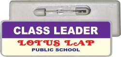 Rectangle Plastic Card School Badge