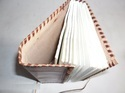 Designer Binding Handmade Leather Journal with Stone